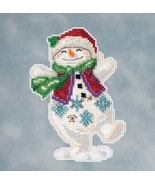 Snowman Dancing 2016 Winter Series cross stitch kit Jim Shore Mill Hill - $7.65