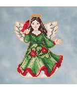 Angel With Cardinal 2016 Winter Series cross st... - $7.65