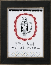 You Had Me At Meow 2016 Amylee Weeks beaded button kit Mill Hill - $15.30