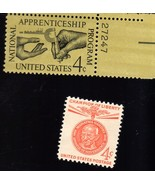 Stamps - U. S. Postage 2 different 4 cent stamps - Apprenticeship & Cham... - $1.95