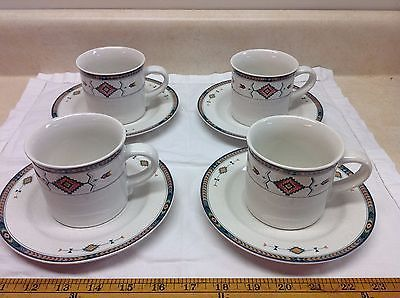 Primary image for Southwestern Design Studio Nova Adirondack Y2201 Lot 4 Cups + 4 Saucers FreeShip