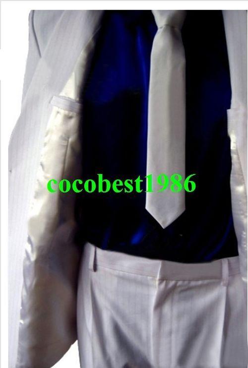 Michael Jackson MJ Smooth Criminal Costume Suit any size coat pants shirt tie