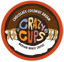 Crazy Cups Chocolate Coconut Dream Coffee 22 to 110 Keurig K cups Pick Any Size - $24.98+