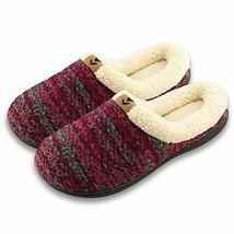 Joan Vass Women Lined Sweater Memory Slippers Medium/7.5-8 BM US, Wine - $28.16