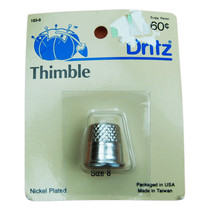 NOS Dritz 1985 Nickel Plated Thimble Size 8 - $6.88