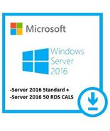 Microsoft Windows Server 2016 Standard + 50 Remote Desktop User Cals - $37.04