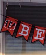 Nfl Cincinnati Bengals Banner Custom Birthday Anniversary Party Decor Ha... - $22.00