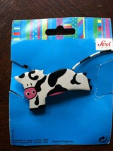 Vintage Cow Hair Clip by Sevi Made in Italy - $6.00