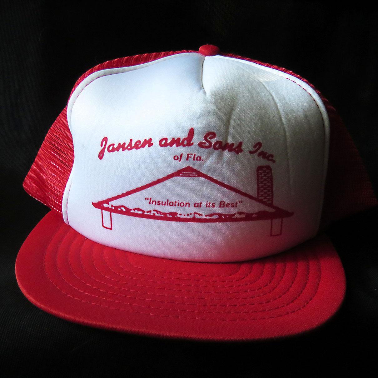 f88c196ef0a Vintage Mesh Snapback Hat Cap Jansen   Sons Insulation Florida Hipster Folk