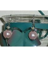 Pink Faux Pearl Earrings - $10.00
