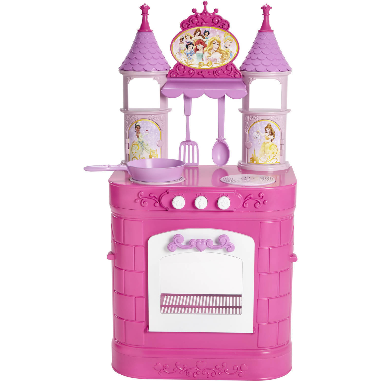 Princess Kitchen Set Disney Playset Pink Magical Cooking