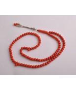 Vintage Red Coral Prayer Beads / Mediterranean ... - $989.01