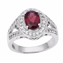 Wonderful Jewelry Wedding Women Ring Garnet Gemstone Silver Ring Sz 8 SH... - $29.77