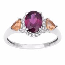 Newest Designer Jewelry Rhodolite Gemstone Sterling Silver Ring Sz 9 SHR... - $13.84