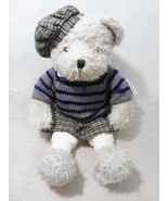Ganz Heritage Collection Off-White Teddy Bear Girl Hat Sweater Skirt H15... - $33.81
