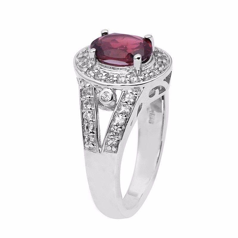 Wonderful Jewelry Wedding Women Ring Garnet Gemstone Silver Ring Sz 8 SHRI0851