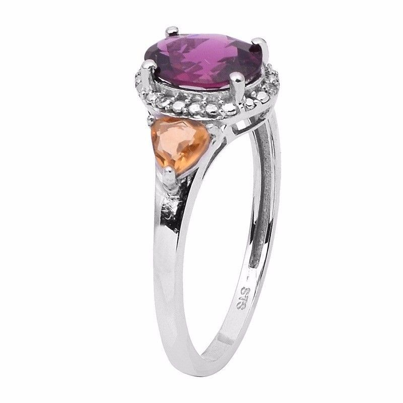 Newest Designer Jewelry Rhodolite Gemstone Sterling Silver Ring Sz 9 SHRI0852