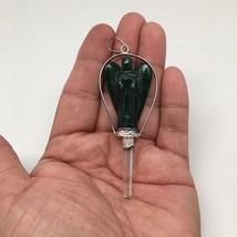 Green Aventurine Angel Pendulum Balancing Reiki Energy Gemstone @India,D668 - $9.99