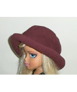 Eastwinds Trading Company Crochet Hat  Maroon - £9.97 GBP