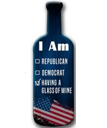Democrat or Republican Wood Shaped Wine Bottle - $29.95