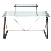 Realspace Merido Main Desk, Espresso/Silver (43... - $279.99