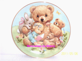 Storybook Pals Teddy Baby Rabbit Blessed Are Ye Collector Plate Danbury ... - $59.95