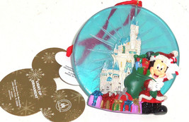 Disney Cinderella Castle Santa Mickey Light Up Ornament Christmas Theme ... - $29.95