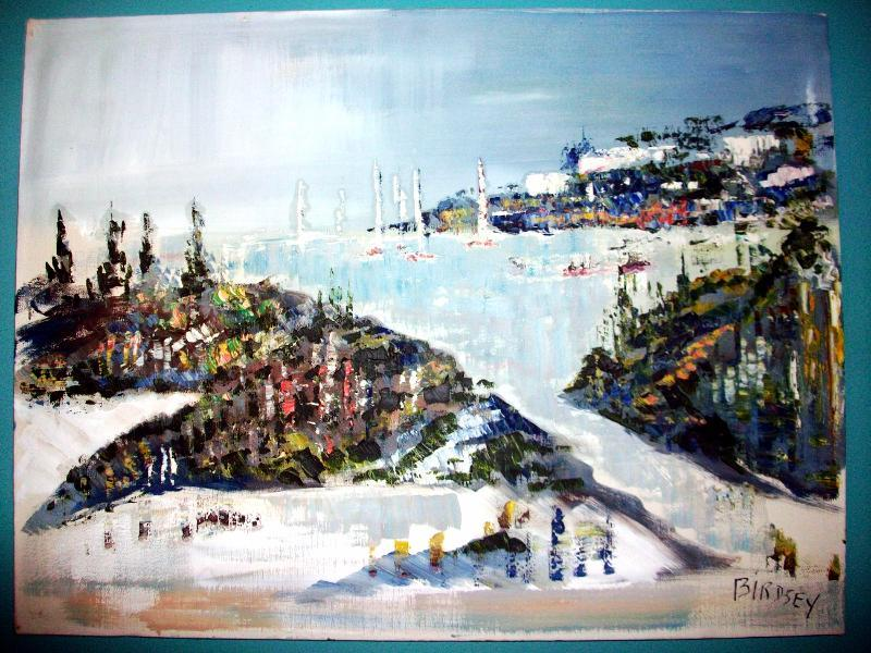 Alfred Birdsey Original OIL Painting Bermuda on Canvas