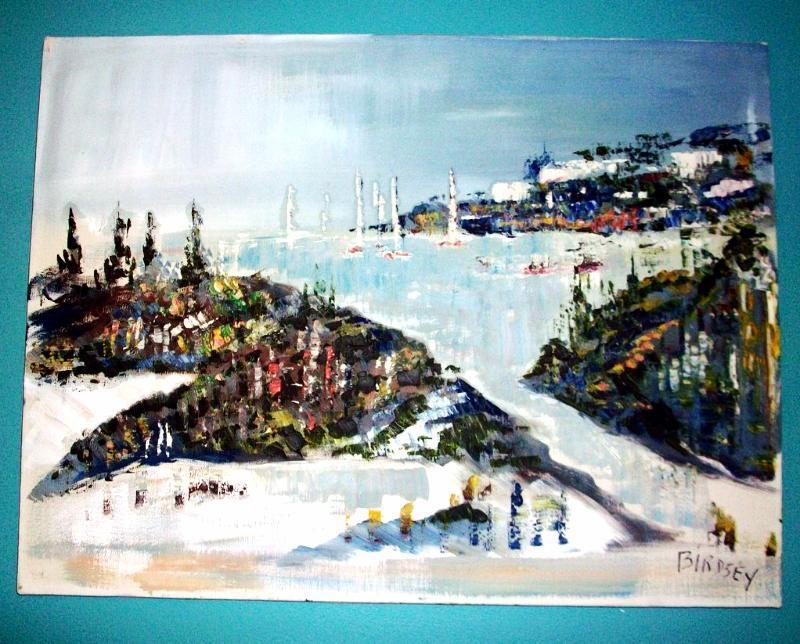 Alfred Birdsey Original OIL Painting Bermuda on Canvas