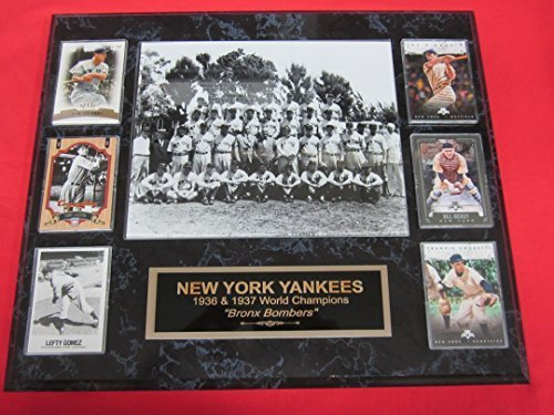 1936 1937 Yankees World Series Champions 6 Card Collector Plaque w/8x10 Team Pho