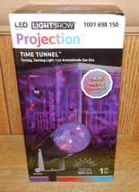 Gemmy LED Halloween Light Show Time Tunnel Red/Purple/Blue Swirling Projection - $18.51