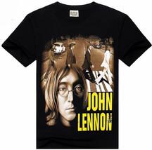 NEW ADULT  JOHN LENNON T-SHIRT SIZE X-LARGE BEATLES ABBEY ROAD BACKGROUND - £10.51 GBP