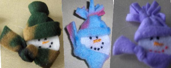 Christmas Snowman/Snowgirl Pins Adorable Handmade Choose any 3