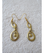 Goldtone Dangling Pierced Earrings - $5.50