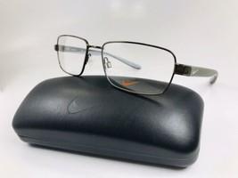 New NIKE 8177 210 Walnut Brown Eyeglasses 57mm with NIKE Case - $113.80