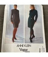 Vogue Sewing Pattern 2569 Anne Klein Misses Dress Semi fitted Size 8 10 ... - $8.87