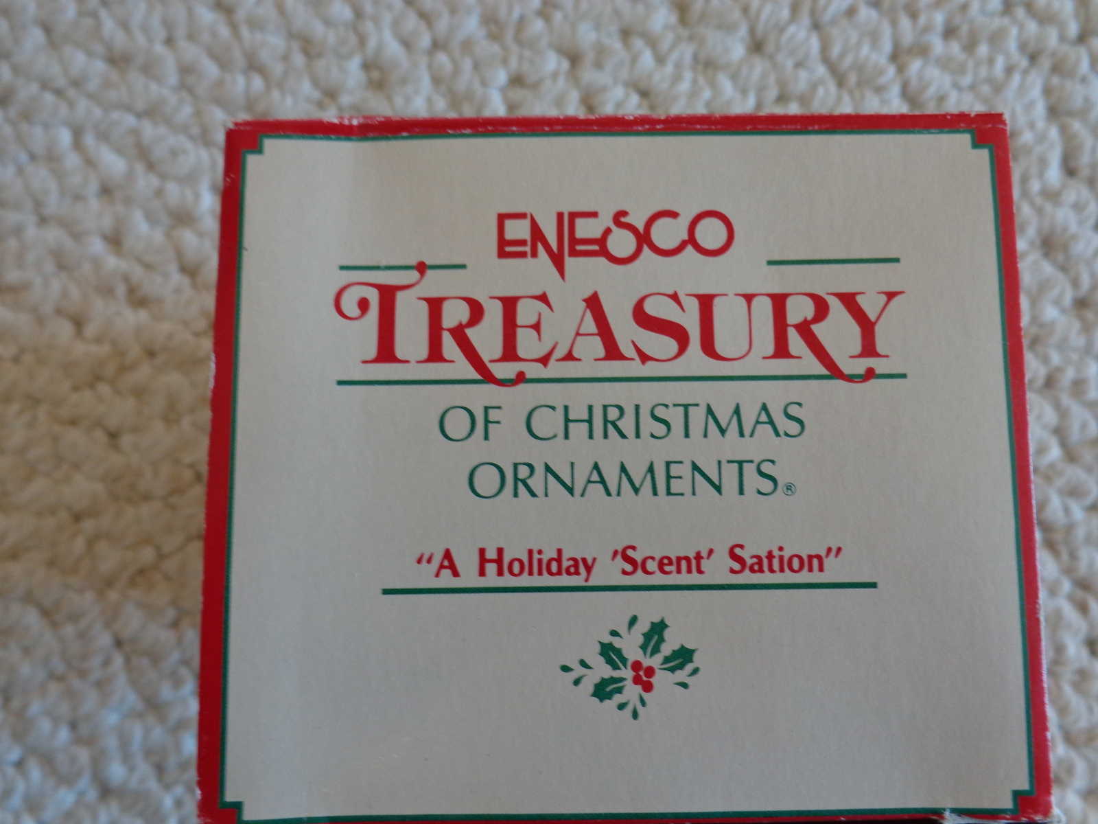 """This is an ENESCO """"A HOLIDAY 'SCENT' SATION"""" #575054 HOLIDAY ORNAMENT (1701)."""