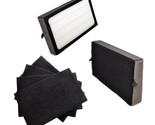2x HQRP Filters E & 4x Carbon Filters for GermGuardian AC4100, FLT4100 FLT11CB4