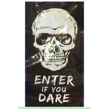 Spooky Gothic LIGHT UP DOOR COVER-Halloween Decoration--SKULL--ENTER IF ... - $4.92