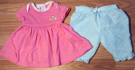Girl's Size 3 M 0-3 Months 2 Pc Pink Baby B Floral Dress/ Top & Bloomer ... - $15.00