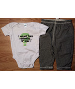 """Boy's Size 3-6 M Month 2 Pc """"I Wasn't Born Yesterday..."""" Top & Reversibl... - $9.91"""