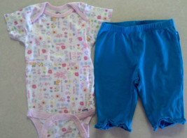 Girl's Size 18 M Months 2 Piece Outfit White Gerber Bunny Top & TCP Blue... - $16.95
