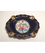 Limoges imperial cobalt blue with gold ashtray thumbtall