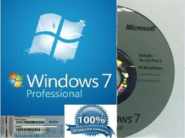 Windows 7 Professional Pro 64 Bit Full Version With SP1 BRAND NEW + Product Key image 1