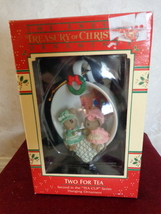 "ENESCO ""TWO FOR TEA"" #559776 HOLIDAY ORNAMENT (#1704).  - $22.99"
