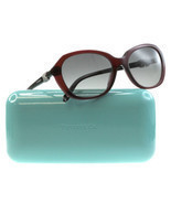 New Tiffany Sunglasses Woman TIF 4108B Red 8003/3C TIF4108-B 55mm - $3.877,42 MXN