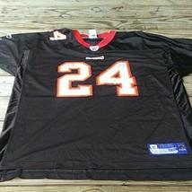 CADILLAC WILLIAMS #24 TAMPA BAY BUCCANEERS REEBOK BLACK NFL GAME JERSEY... - $24.75