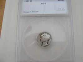 Mercury Dime , Lot of 1 , Segs Certified - $15.00