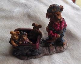 Boyd's Bears Huck with Mandy, Zoe and Zack... Rollin' Along Bearstone #2... - $30.69