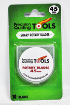 Precision Quilting Tools 45mm Rotary Replacement Blades 10 Count - $31.50